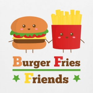burger and fries friends BFF Women's T-Shirts - Men's Premium Tank