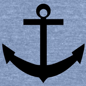 anchor_solid Tanks - Unisex Tri-Blend T-Shirt by American Apparel