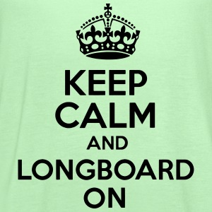 Keep Calm And Longboard On Tee - Women's Flowy Tank Top by Bella
