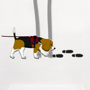 search beagle Kids' Shirts - Contrast Hoodie