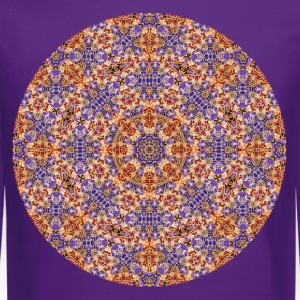 Purple and Gold Mandala  Women's T-Shirts - Crewneck Sweatshirt