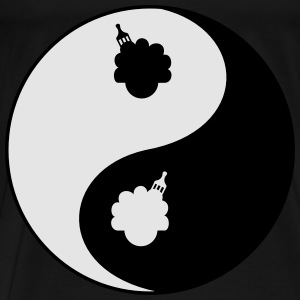 Afro Ying and Yang Bags & backpacks - Men's Premium T-Shirt