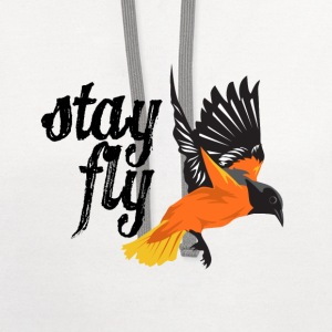 Baltimore Baseball Stay Fly Ladies' Tank - Contrast Hoodie