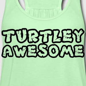 Turtley Awesome Outline Shirt T-Shirts - Women's Flowy Tank Top by Bella