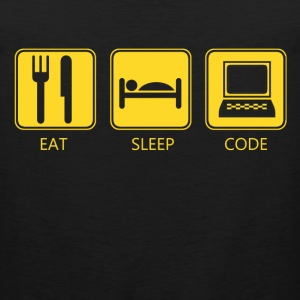 eat sleep code - Men's Premium Tank