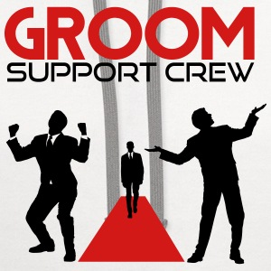 Groom Support Crew T-Shirts - Contrast Hoodie
