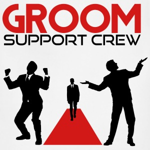 Groom Support Crew T-Shirts - Adjustable Apron