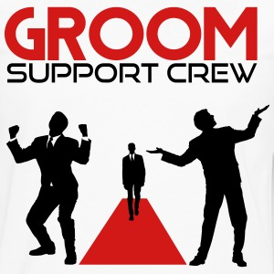 Groom Support Crew T-Shirts - Men's Premium Long Sleeve T-Shirt