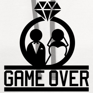 Game Over - Wedding T-Shirts - Contrast Hoodie