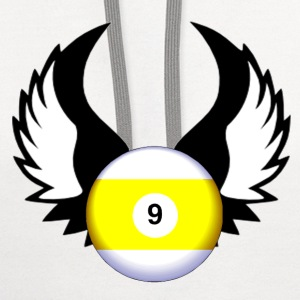 9 Ball with Wings - Contrast Hoodie