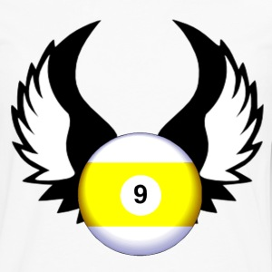 9 Ball with Wings - Men's Premium Long Sleeve T-Shirt