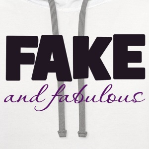 Fake and Fabulous boobs - Contrast Hoodie