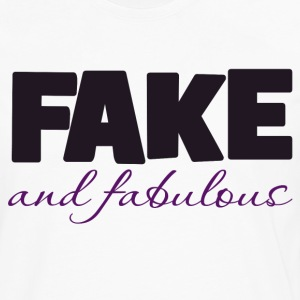 Fake and Fabulous boobs - Men's Premium Long Sleeve T-Shirt