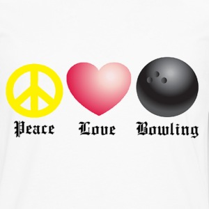Peace, Love, Bowling - Men's Premium Long Sleeve T-Shirt