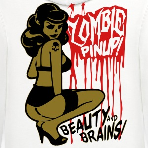 Zombie Pin Up T-Shirts - Contrast Hoodie