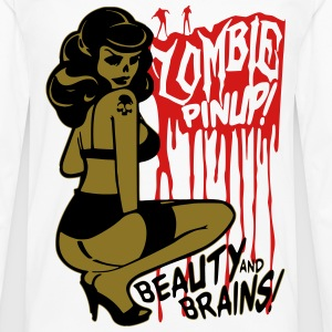 Zombie Pin Up T-Shirts - Men's Premium Long Sleeve T-Shirt