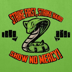 Strike First, No Mercy Cobra Kai T-Shirts - Tote Bag