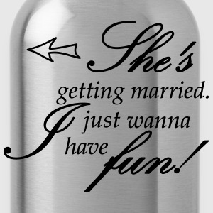 she is getting married Tanks - Water Bottle