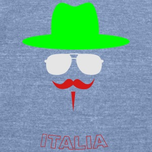 Italy Fan with mustache Tanks - Unisex Tri-Blend T-Shirt by American Apparel