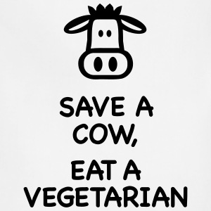 Save a Cow eat Vegetarian T-Shirts - Adjustable Apron