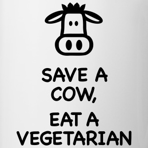 Save a Cow eat Vegetarian T-Shirts - Coffee/Tea Mug