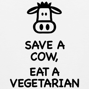 Save a Cow eat Vegetarian T-Shirts - Men's Premium Tank