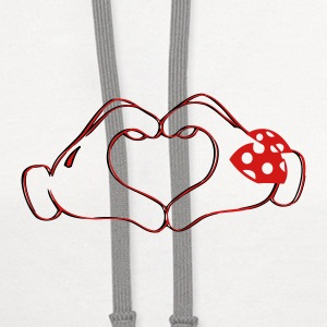 mickeys hand heart love Phone & Tablet Covers - Contrast Hoodie