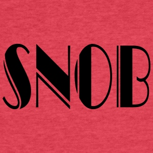 SNOB Tanks - Fitted Cotton/Poly T-Shirt by Next Level