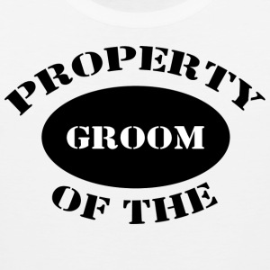 Just Married Property of The Groom T-Shirt - Men's Premium Tank