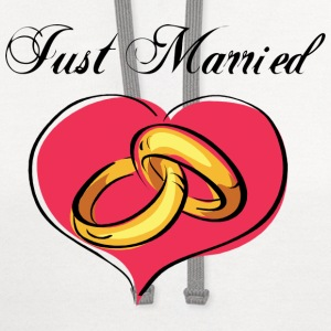Just Married T-Shirt - Contrast Hoodie