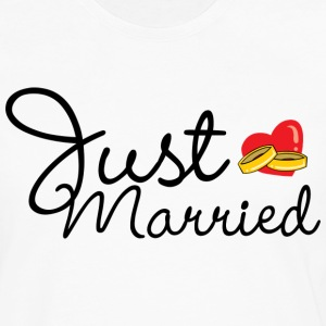 Just Married T-Shirt - Men's Premium Long Sleeve T-Shirt