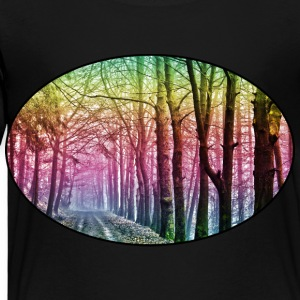 Nature - Rainbow - Forest - Park - Rural - Trees Kids' Shirts - Toddler Premium T-Shirt