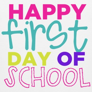Happy First Day of School Kids' Shirts - Men's Premium Tank