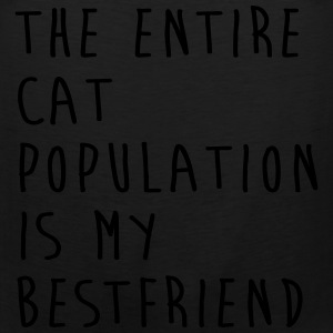 The Entire Cat Population Is My Bestfriend T-Shirts - Men's Premium Tank