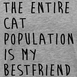 The Entire Cat Population Is My Bestfriend Hoodies - Men's Premium T-Shirt