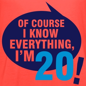 Of course I know everything, I'm 20 T-Shirts - Women's Flowy Tank Top by Bella