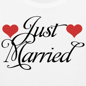 Just Married T-Shirt - Men's Premium Tank