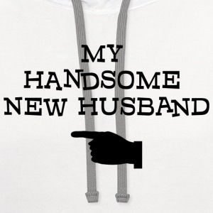 Just Married My Handsome New Husband T-Shirt - Contrast Hoodie