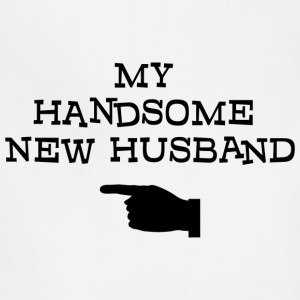Just Married My Handsome New Husband T-Shirt - Adjustable Apron