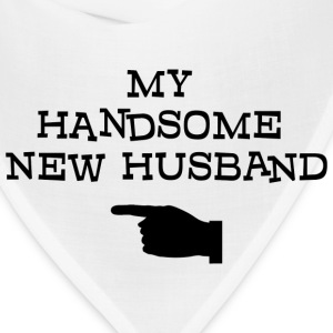 Just Married My Handsome New Husband T-Shirt - Bandana