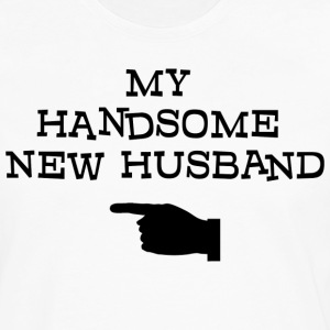 Just Married My Handsome New Husband T-Shirt - Men's Premium Long Sleeve T-Shirt