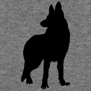 german shepherd silhouette Tanks - Women's Wideneck Sweatshirt