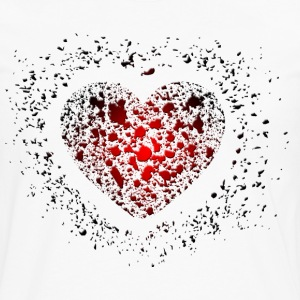 Heart - Grunge - Love - Romance - Valentines T-Shirts - Men's Premium Long Sleeve T-Shirt