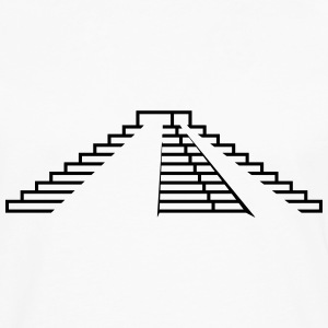 Maya,step pyramid,stages,pyramid,building,temple T-Shirts - Men's Premium Long Sleeve T-Shirt