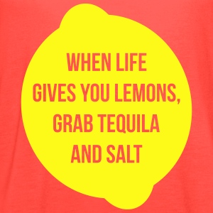 When Life Gives Grab Tequila - Women's Flowy Tank Top by Bella