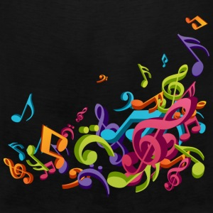 Music - Musician - Band - Music Notes - Musical Women's T-Shirts - Men's Premium Tank