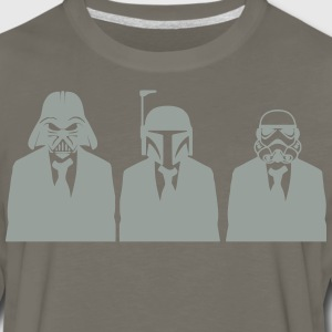 vader, fett, & stormtrooper in suits 1_ T-Shirts - Men's Premium Long Sleeve T-Shirt