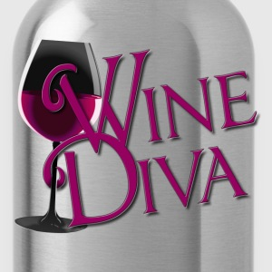 Wine Diva in burgandy - Water Bottle