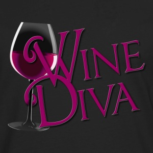Wine Diva in burgandy - Men's Premium Long Sleeve T-Shirt
