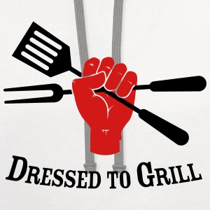 Dressed to Grill - Contrast Hoodie